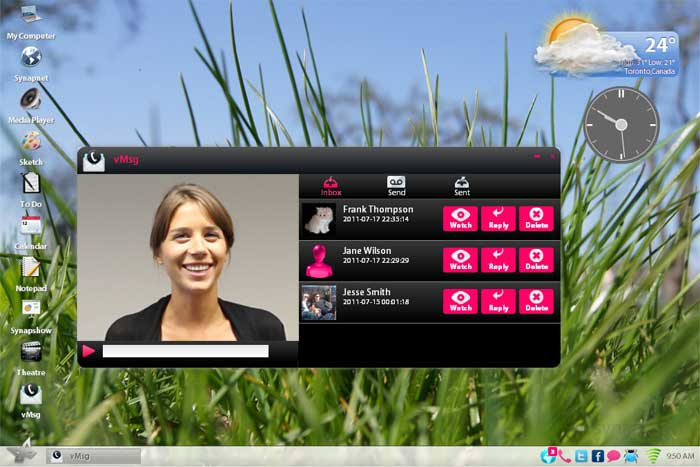 Synaptop vMsg - Video message friends