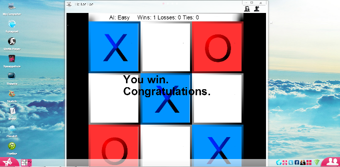 Play Tic-Tac-Toe together on Synaptop!