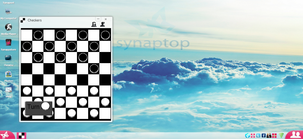 Play Checkers on Synaptop!