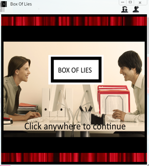 New Box of Lies game on Synaptop!