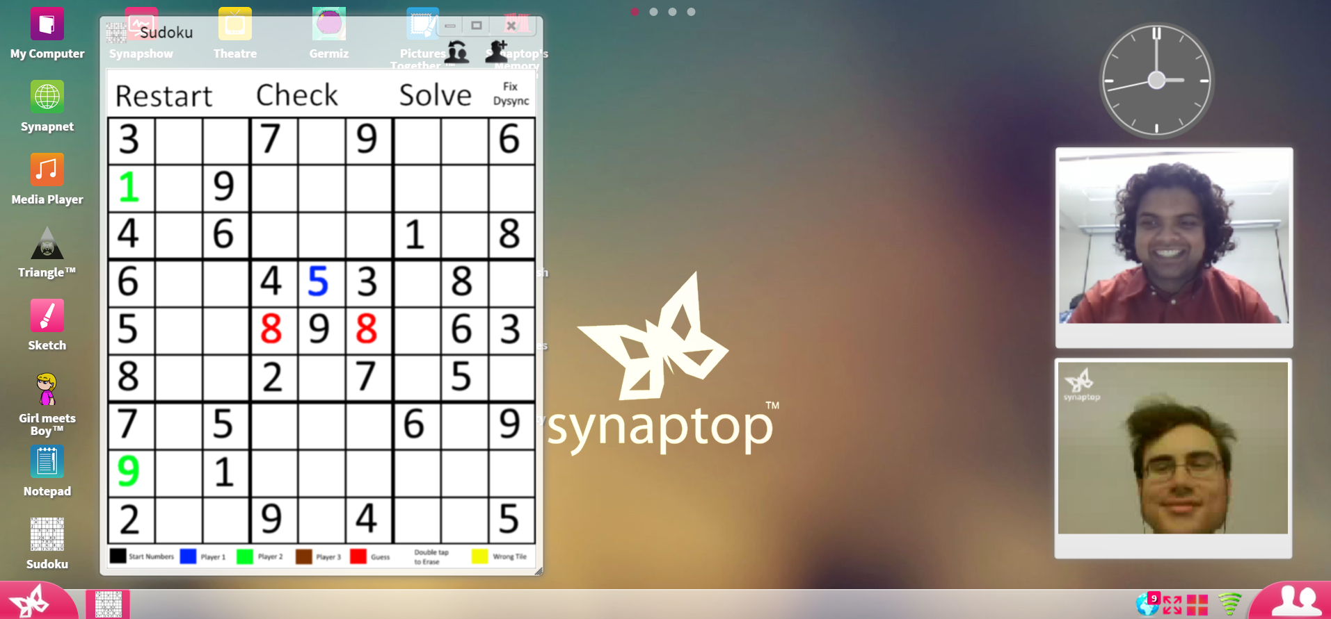Play Sudoku with friends online